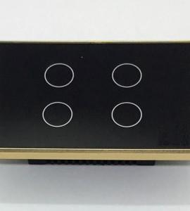 Công Tắc Tuya Zigbee Viền Vàng 4 Nút